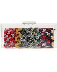Missoni - Jacquard-knit And Pvc Clutch - Lyst