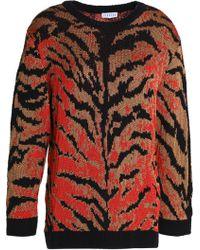 Claudie Pierlot - Zebra-print Knitted Jumper - Lyst