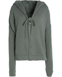 Mikoh Swimwear - Cotton Hooded Sweatshirt Army Green - Lyst
