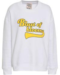 Baum und Pferdgarten - Woman Printed French Cotton-blend Jersey Sweatshirt White - Lyst