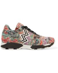 Missoni | Leather-trimmed Crochet-knit Trainers | Lyst