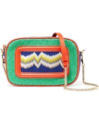 Missoni - Leather-trimmed Crochet Knit Shoulder Bag - Lyst