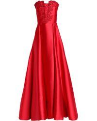 Carolina Herrera - Embellished Embroidered Duchesse Satin Gown - Lyst