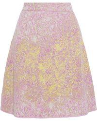 M Missoni - Metallic Jacquard-knit Skirt - Lyst