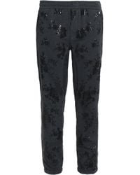 Brunello Cucinelli - Sequin-embellished Stretch-cotton Terry Tapered Trousers - Lyst