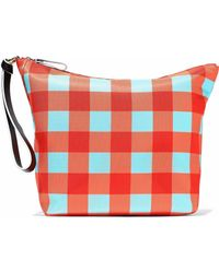 Diane von Furstenberg - Origami Gingham Coated Canvas Clutch - Lyst