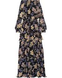 Tory Burch - Indie Tiered Printed Silk-georgette Maxi Dress - Lyst
