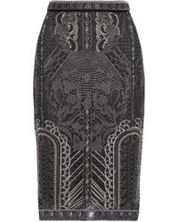 Marchesa notte - Embellished Tulle Pencil Skirt - Lyst