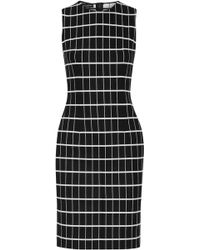 Narciso Rodriguez - Checked Jacquard-knit Cotton-blend Dress - Lyst