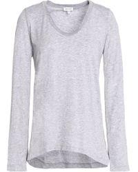 Splendid - Mélange Supima Cotton And Modal-blend Jersey Top - Lyst