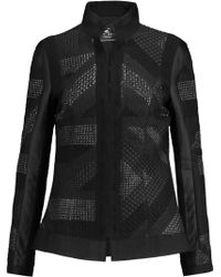 Etro - Metallic Bouclé-paneled Crepe Jacket - Lyst