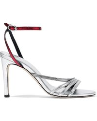 IRO - Metallic Two-tone Leather Sandals - Lyst