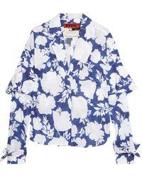 Ronald Van Der Kemp | Floral-print Cotton-voile Blouse | Lyst
