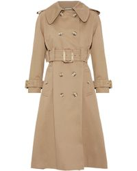 ALEXACHUNG - Double-breasted Cotton-gabardine Trench Coat - Lyst