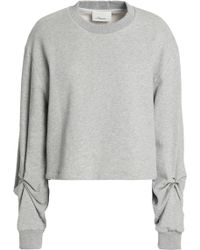 3.1 Phillip Lim - Barbell-embellished French Cotton-terry Sweatshirt - Lyst