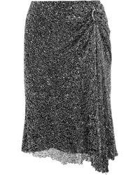 Dion Lee - Draped Embellished Mesh Skirt - Lyst