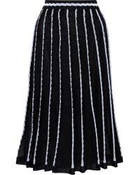 M Missoni - Pleated Metallic Jacquard-knit Cotton-blend Midi Skirt - Lyst