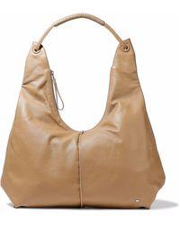 Halston - Textured-leather Shoulder Bag - Lyst