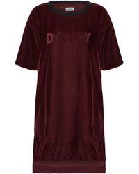 DKNY Embossed Velvet Nightshirt Burgundy