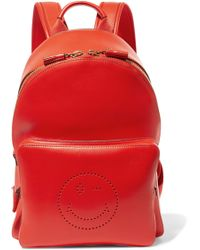 Anya Hindmarch - Perforated Leather Backpack - Lyst