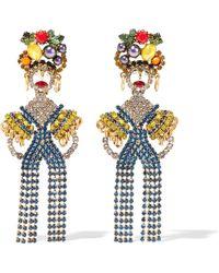 Elizabeth Cole - Woman 24-karat Gold-plated Crystal Earrings Multicolour - Lyst