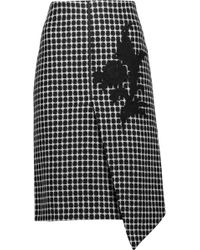 Raoul | Asymmetric Appliquéd Checked Wool-blend Skirt | Lyst