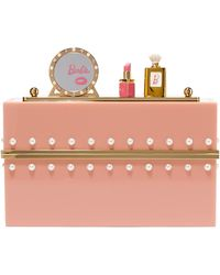 Charlotte Olympia - Woman Embellished Perspex Clutch Blush - Lyst