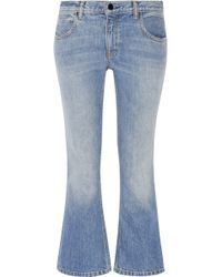 Alexander Wang - Cropped Mid-rise Bootcut Jeans - Lyst