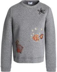 RED Valentino - Appliquéd Mélange Cotton-neoprene Sweatshirt - Lyst