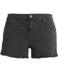 RTA - Frayed Denim Shorts Dark Grey - Lyst