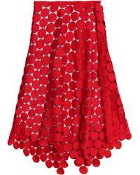 Marni - Guipure Lace Midi Skirt - Lyst