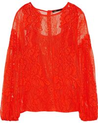 Maje - Layou Corded Lace Blouse - Lyst