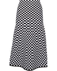 Alexander Wang - Bead-trimmed Checked Jacquard-knit Midi Skirt - Lyst