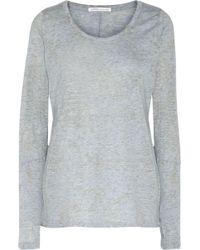 Yummie By Heather Thomson - Mélange Stretch-jersey Pyjama Top Sky Blue - Lyst
