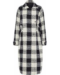 Belstaff - Double-breasted Checked Cotton-blend Bouclé-tweed Coat - Lyst