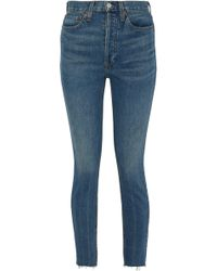 RE/DONE - Faded High-rise Skinny Jeans - Lyst