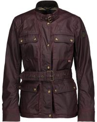 Belstaff - Roadmaster 2.0 Belted Coated Cotton-canvas Jacket - Lyst