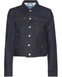 Acne Studios - Woman Cliff Denim Jacket Dark Denim - Lyst
