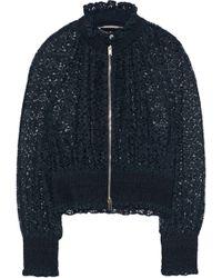 Stella McCartney - Shirred Cotton-blend Lace Jacket - Lyst