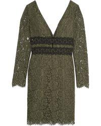 Diane von Furstenberg - Viera Macramé Lace-paneled Guipure Lace Dress - Lyst