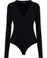 Theory - Paneled Wool Bodysuit - Lyst