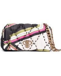 Emilio Pucci - Printed Quilted Twill Shoulder Bag - Lyst