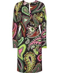 Emilio Pucci - Woman Wrap-effect Printed Jersey Dress Leaf Green - Lyst