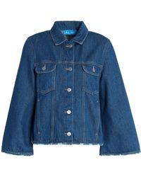M.i.h Jeans - Distressed Denim Jacket - Lyst