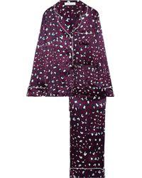 Olivia Von Halle - Lila Marilyn Leopard-print Silk-satin Pajama Set - Lyst