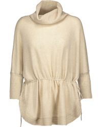 Duffy - Gathered Cashmere Turtleneck Sweater - Lyst