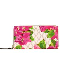 Kate Spade - Woman Bayard Place Lacey Faux Leather Continental Wallet Multicolor - Lyst