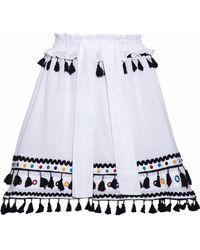 Dodo Bar Or - Embellished Cotton-gauze Skirt - Lyst