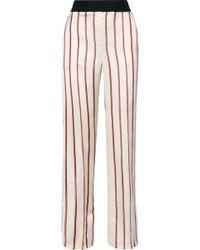 Lanvin | Striped Satin-jacquard Wide-leg Trousers | Lyst