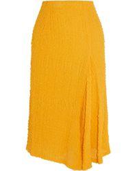 Victoria Beckham - Silk-seersucker Skirt - Lyst